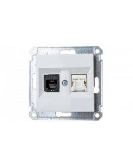 LUMINA2 Gniazdo teleinformatyczne RJ11/12 + RJ45 białe WL2210