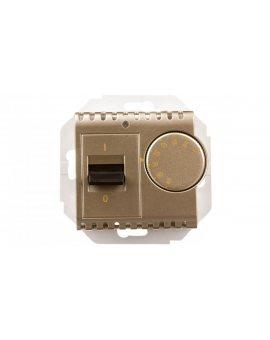 Simon 54 Regulator temperatury z czujnikiem wewnętrznym złoty mat DRT10W.02/44