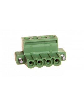 Łącznik wtykowy do płytek drukowanych 4-bieguny zielony MSTB 2, 5/ 4-STF-5, 08 1778001