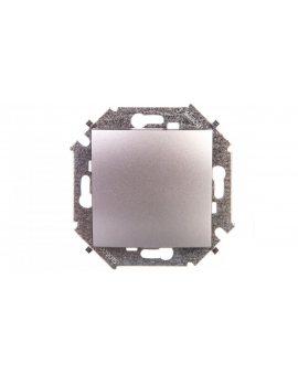Simon 15 Przycisk pojedynczy zwierny bez piktogramu 10AX 250V aluminium 1591150-026