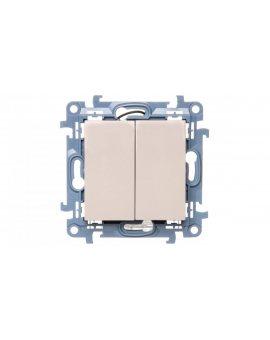 Simon 10 Łącznik świecznikowy z podświetleniem LED 10AX IP44 kremowy CW5BL.01/41