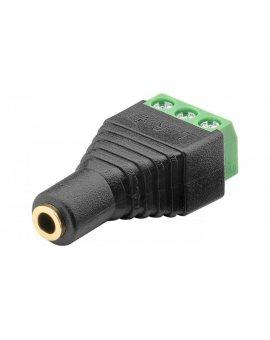 Gniazdo jack 3, 5mm (3-pinowy, stereo) - mocowanie śrubowe 76746 /10szt./