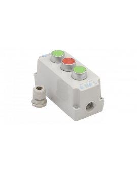Kaseta sterownicza 3-otworowa z przyciskami zielony/czerwony/zielony IP65 ST22K3\02-1