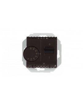 Simon 54 Regulator temperatury z czujnikiem zewnętrznym brąz mat DRT10Z.02/46