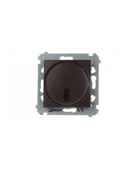 Simon 54 Ściemniacz naciskowy zdalnie sterowany 20–500W brąz mat DS13T.01/46