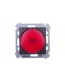 Simon 54 Sygnalizator świetlny LED czerwone światło brąz mat DSS2.01/46