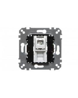 Merten Gniazdo telefoniczne pojedyncze RJ12 (4styki) MTN463501