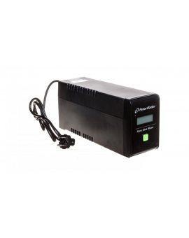 UPS POWER WALKER LINE-INTERACTIVE 800VA 2xPL 230V, czysta sinusoida, RJ11/45 IN/OUT, USB, LCD VI 800 SW/FR
