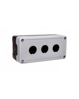 Kaseta sterownicza 3-otworowa fi22 pusta czarno-szara IP65 T0-PY3BOS