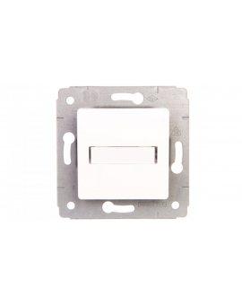 CARIVA Przycisk z uchwytem etykiety 12V 6A-250V biały 773612