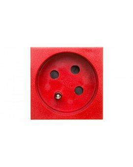 Gniazdo zasilające M45 pojedyncze z/u 16A czerwone STD-F3K SRO1 6120322