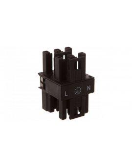 Rozgałęźnik 3-torowy 1x wtyk / 3x gniazdo czarny 770-607 WINSTA /50szt./