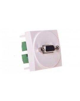 Systo Gniazdo multimedialne SUB-D VGA 2 moduły biały WS276