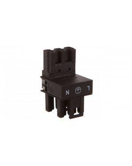 Rozgałęźnik typu h 3-torowy wtyk / gniazdo-gniazdo czarny WINSTA 770-634 /50szt./