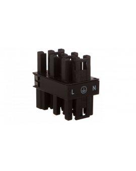 Rozgałęźnik 3-torowy 1x wtyk / 5x gniazdo czarny 770-608 WINSTA /25szt./