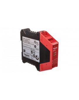 Przekaźnik bezpieczeństwa do wyłącznika awaryjnego i cięgnowego 3Z 1 tranzystorowe 24V AC/DC PREVENTA XPSAC5121