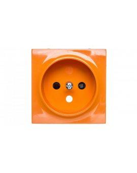 Simon 54 Pokrywa gniazda pojedynczego z przesłonami pomarańczowa DGZ1ZP/32