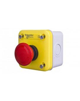 Kaseta z przyciskiem bezpieczeństwa przez obrót 1R żółta IP65 XALEK1701