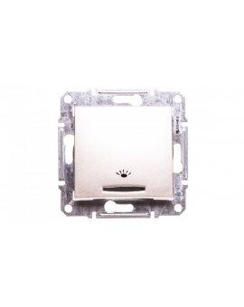 Sedna Przycisk światło element podstawowy satyna IP20 przycisk 1x SDN1800168