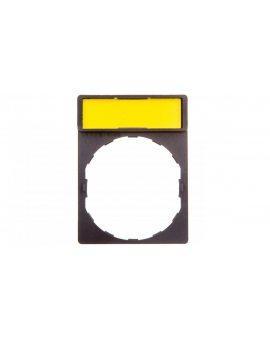 Szyld opisowy 30x40mm z etykietą biały/żółty 22mm czarny prostokątny ZBY4101