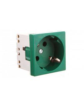 Simon Connect Gniazdo K45 z schuko 16A/230V szybkozłączki zielony K11/27