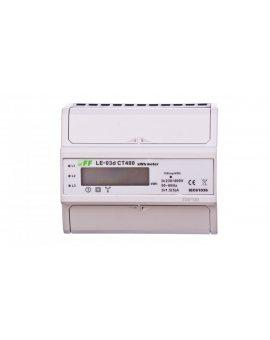Licznik energii elektrycznej 3-fazowy przekładnikowy 400/5A z wyświetlaczem LCD LE03D-CT400
