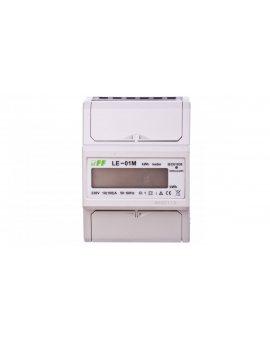 Licznik energii elektrycznejzgodność z MID 1-fazowy 100A 230V RS-485 MODBUS RTU wyświetlacz LCD LE-01M