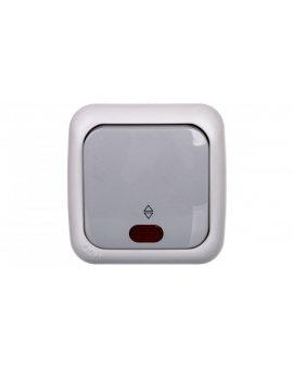 PALMIYE Łącznik schodowy podświetlany IP54 szary 90555563