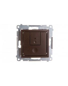 Simon 54 Ściemniacz dwuprzyciskowy 40–500W brąz mat D75310.01/46