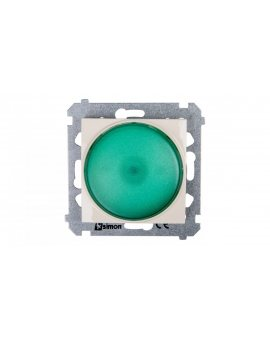 Simon 54 Sygnalizator świetlny LED zielone światło kremowy DSS3.01/41
