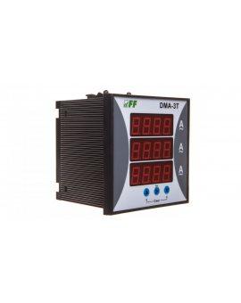 Amperomierz 3-fazowy cyfrowy tablicowy 0-9000A dokładność 1% 96x96mm do pracy z przekładnikiem 5A DMA-3T