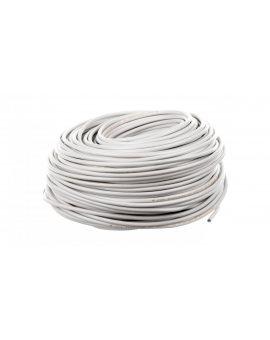Przewód mieszkaniowy H03VV-F (OMY) 3x0, 75 żo biały /100m/