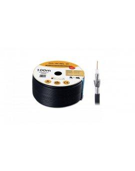 Przewód koncentryczny żelowany SAT Trishield HD 1, 02/4, 7 PCC102 LIBOX /100m/
