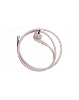 Przewód przyłączeniowy W-3 3x1, 5 mm2 biały z wtyczką kątową 1, 5m 51.931