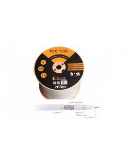 Przewód koncentryczny SAT 1, 13/4, 7 LIBOX reakcja na ogień Eca PCC113B /200m/