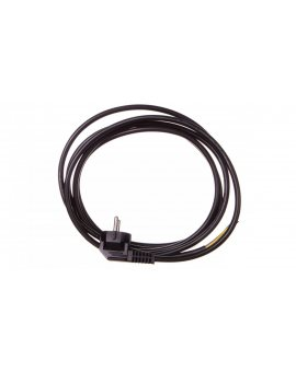 Przewód przyłączeniowy W-3 3x1, 5 mm2 czarny z wtyczką kątową 3m 51.937