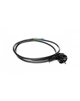 Przewód przyłączeniowy W-3 3x1, 5 mm2 czarny z wtyczką kątową 1, 5m 51.933