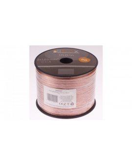 Przewód głośnikowy CCA 2x1 ECa LB0007 LIBOX /100m/