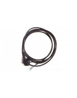 Przewód przyłączeniowy W-2 3x1, 0 mm2 czarny z wtyczką kątową 3m 51.927