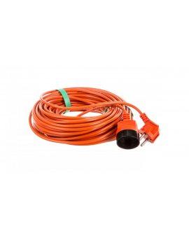 Przedłużacz ogrodowy 1-gniazdo b/u 25m /OMY 2x1/ pomarańczowy PK-1025