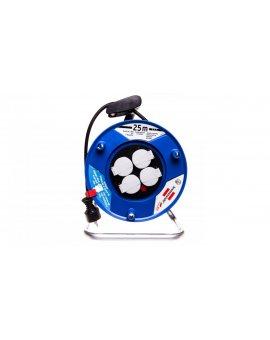 Przedłużacz bębnowy Garant 25m 4x230V H05VV-F 3G1, 5 czarny 1218054