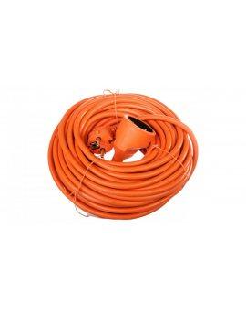 Przedłużacz ogrodowy 1-gniazdo z/u 20m /H05VV-F 3x1, 5/ pomarańczowy P01120