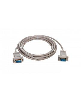 Kabel połączeniowy RS232 null-modem Typ DSUB9/DSUB9, Ż/Ż beżowy 3m AK-610100-030-E