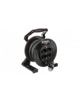 Przedłużacz bębnowy XREEL 20mb H05RR-F 3x2, 5 IP20 4xGS 230V 92501T48223