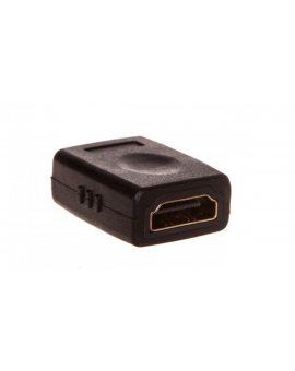Adapter HDMI Highspeed 2.0 z Eth. Typ HDMI A/HDMI A, Ż/Ż czarny AK-330500-000-S