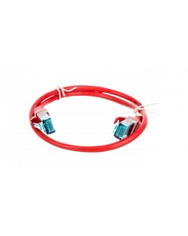 Kabel krosowy (Patch Cord) U/UTP kat.5e czerwony 0, 5m DK-1512-005/R