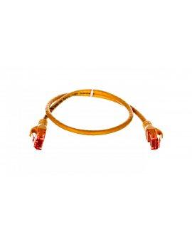 Kabel krosowy (Patch Cord) U/UTP kat.6 żółty 0, 5m DK-1612-005/Y