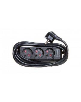 Listwa zasilajaca Eco-Line 3m 3x230V czarna H05VV-F 3G1, 5 1157504130