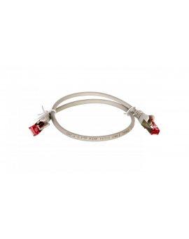 Kabel krosowy patchcord S/FTP (PiMF) kat.6 LSZH szary 0, 5m 50885