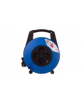 Przedłużacz zwijany kompaktowy Vario Line 4x230V 15m czarno-niebieski H05VV-F 3G1, 5 22, 5x27x12cm 1104154